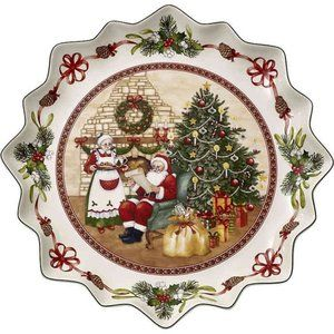 Villeroy & Boch Holiday Christmas Pastry Plate